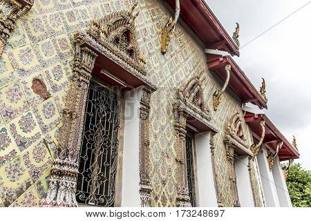 Wat Pho Temple Buddhism Bangkok Thailand architecture mosaic