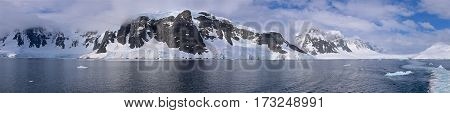 Gerlache Strait is a channel/strait separating the Palmer Archipelago from the Antarctic Peninsula.