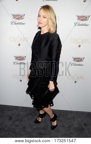 LOS ANGELES - FEB 23:  Naomi Watts at the Cadillac Hosts their Annual Oscar Week Soiree at the Chateau Marmont on February 23, 2017 in West Hollywood, CA