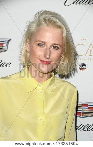 LOS ANGELES - FEB 23:  Mamie Gummer at the Cadillac Hosts their Annual Oscar Week Soiree at the Chateau Marmont on February 23, 2017 in West Hollywood, CA