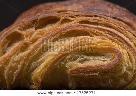 Brightly Lit Layers Of Croissant Pastry