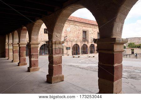 Jail square (Plaza de la Carcel) in Siguenza Guadalajara province Castilla La Mancha Spain.