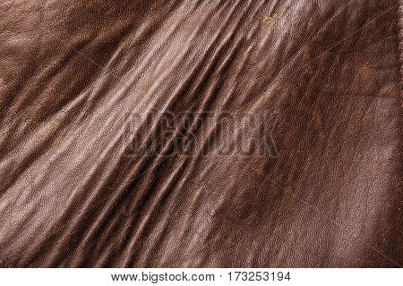 Patterned Leather and old leather texture with scratches background.