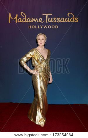 LOS ANGELES - FEB 23:  Meryl Streep Wax Figure at the Unveiling of Madame Tussauds Revamped Meryl Streep Wax Figure at TCL Chinese Theater 6 Lobby on February 23, 2017 in Los Angeles, CA