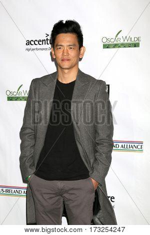 LOS ANGELES - FEB 23:  John Cho at the 12th Annual Oscar Wilde Awards at Bad Robot Studios on February 23, 2017 in Santa Monica, CA