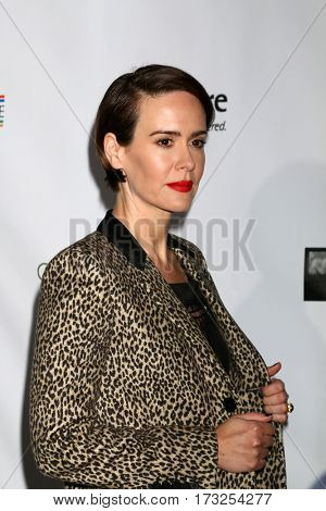 LOS ANGELES - FEB 23:  Sarah Paulson at the 12th Annual Oscar Wilde Awards at Bad Robot Studios on February 23, 2017 in Santa Monica, CA