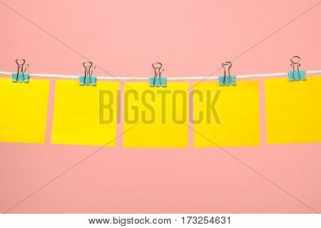 Blank Yellow Paper Notes On The String