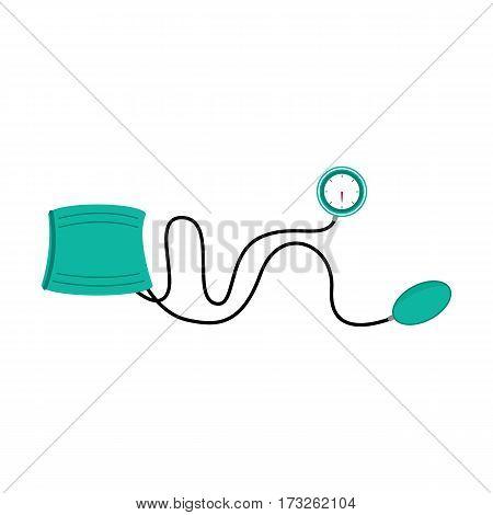 Blood pressure measuring. Vector illustration health concept