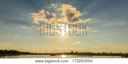 Close up of clouds and sunset sky background