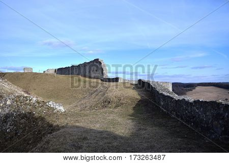 Ruins of a castle which was based Ruins of a relatively large castle which was based probably in the second half of the 13th century. The castle together with other castles protected the roads to Moravia crossing the border of the country in the Karpaty m
