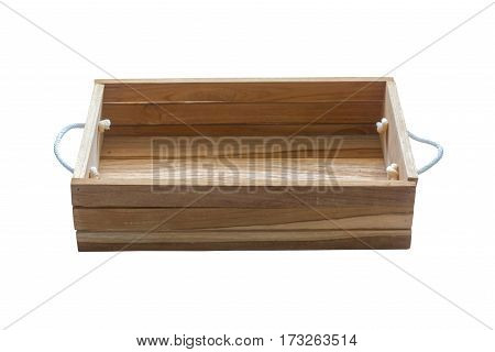 Old wooden box isolated on white ckground. This has clipping path.