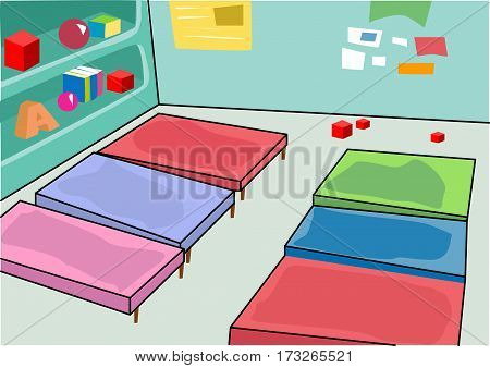 room for sleeping and studying in kindergarden