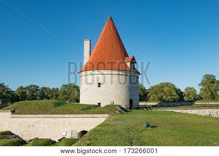 Kuraeessre Castle Island of Saaremaa Estonia -27th of August 2016: Kuressaare Episcopal Castle island of Saaremaa Estonia. Kuressaare castle is considered one of the best preserved medieval fortifications in Estonia.