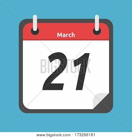 Calendar Showing March, 21