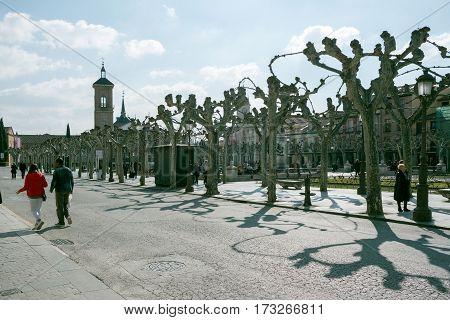 View Of The Cervantes Square