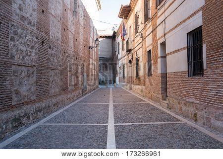 Alley Of Santa Maria Near The Cervantes Square