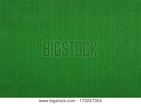Forest Green Coarse Woven Fabric Background