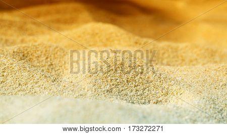 Photos bright yellow sand on the beach