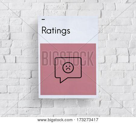 Rating Customer Service Satisfaction Sad