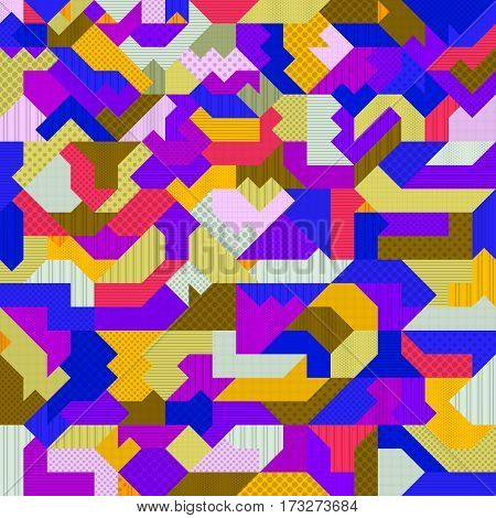 Background with style Memphis. Abstract design colorful geometric background
