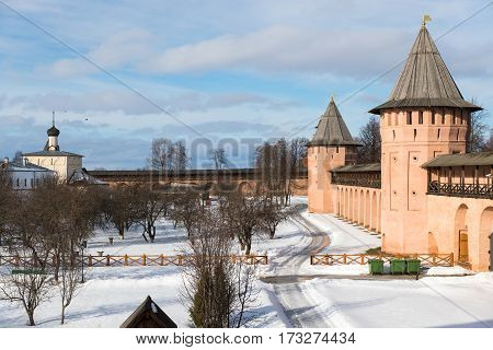 courtyard of the monastery in northern Russia