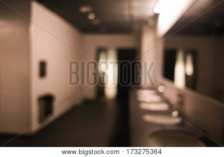 Blurred background of social toilet