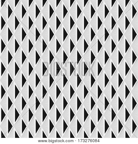 Simple seamless geometric pattern. Lines triangles are original modern textured finish.