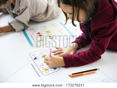 Children Together Study Education Concept