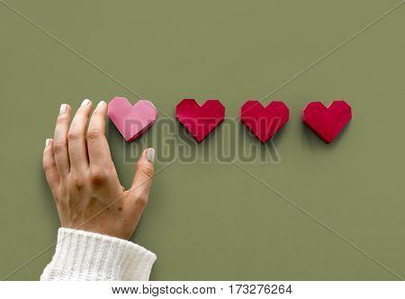 Love Heart Paper Craft Valentine