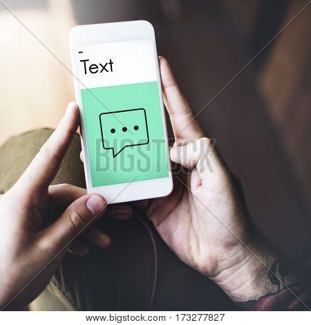 Speech Bubble Communication Online