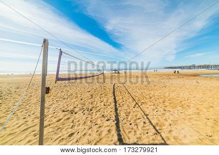 Beach Volley net in Pismo Beach California