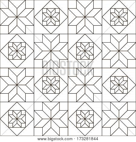 design pages for coloring books. pattern in style of patchwork vector illustration.