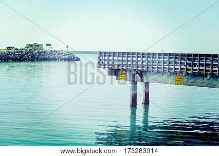 a wooden pier in Oceanside in California
