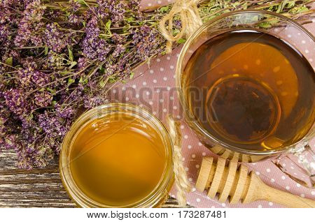 Tea Cup With Dry Flowers
