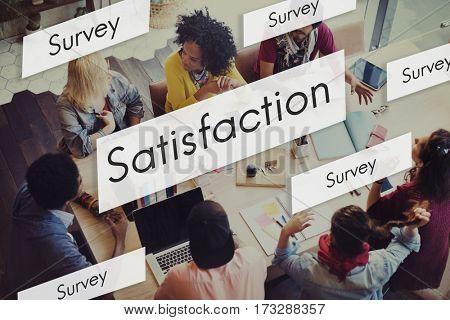 Diverse People Satisfaction Concept