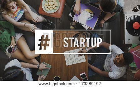 Start up Team Building Teamwork Hashtag
