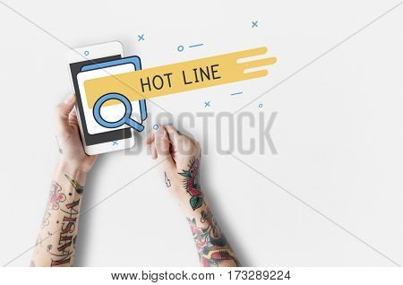 Hot Line Contact Us Call Center Search Interface