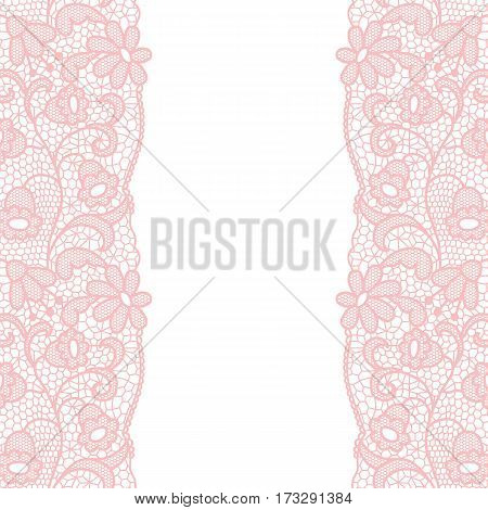 Lace border. Vector illustration. Lacy vintage elegant trim