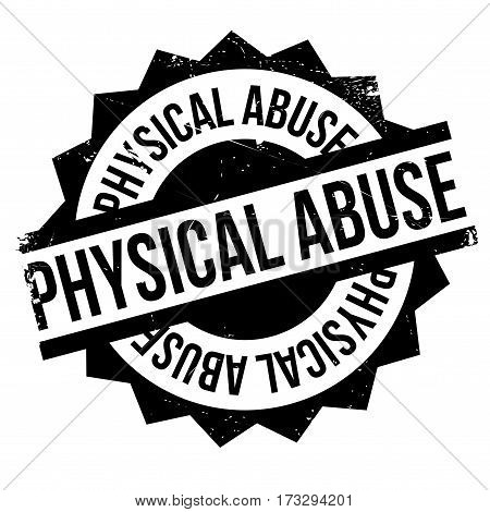 Physical Abuse rubber stamp. Grunge design with dust scratches. Effects can be easily removed for a clean, crisp look. Color is easily changed.