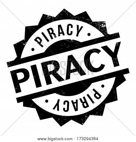 Piracy rubber stamp. Grunge design with dust scratches. Effects can be easily removed for a clean, crisp look. Color is easily changed.