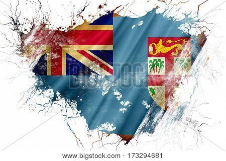 Grunge old Fiji  flag
