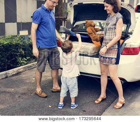 Family Traveler Journey Summer Holiday