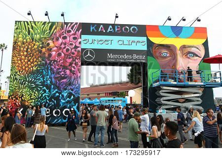 DEL MAR, CA-SEPT 17: General atmosphere at the 2016 KAABOO Music Festival at Del Mar Racetrack + Fairgrounds on September 17, 2016 in Del Mar, California.