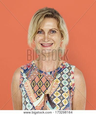 Caucasian Woman Smiling Happy Positive