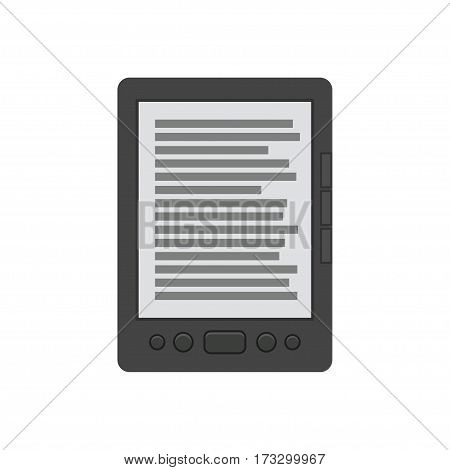 Ebook reader. vector illustration isolated on white background