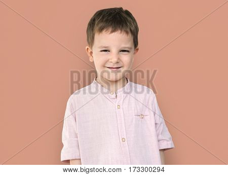 Caucasian Little Boy Smile Happy Cheerful