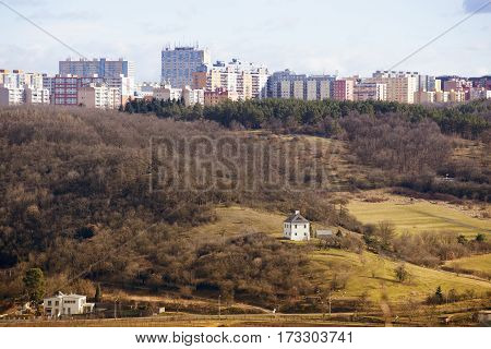 View of prague district Troja housing development
