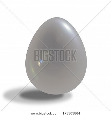 3d glossy egg isolated on white background