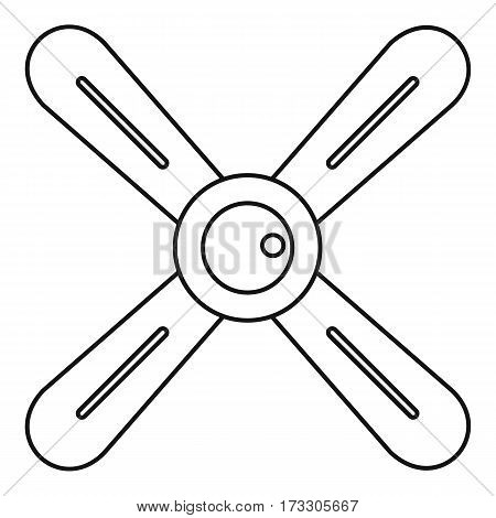 Propeller icon. Outline illustration of propeller vector icon for web