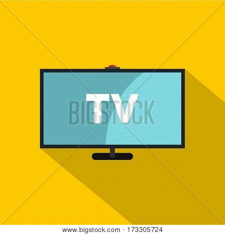 Television icon. Flat illustration of television vector icon for web